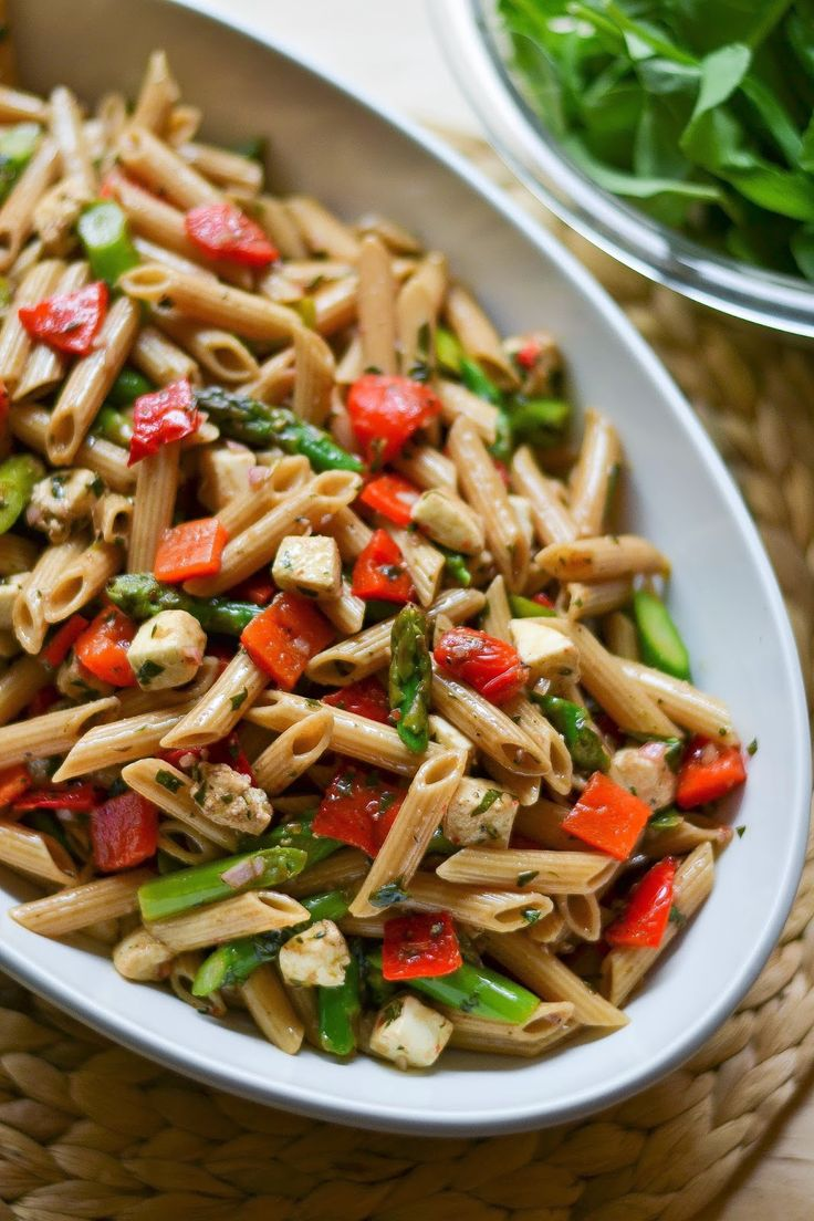 Apples And Sparkle Pasta Salad With Asparagus Roasted