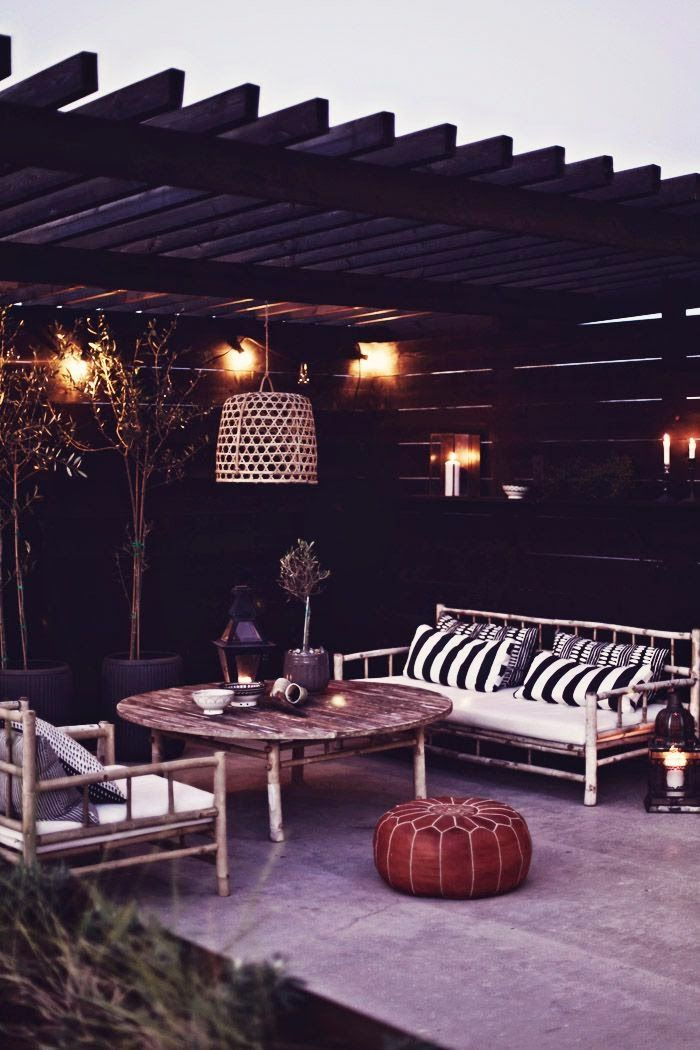 26 best patio images on Pinterest Outdoor spaces, Sweet home and - designer gartensofa indoor outdoor