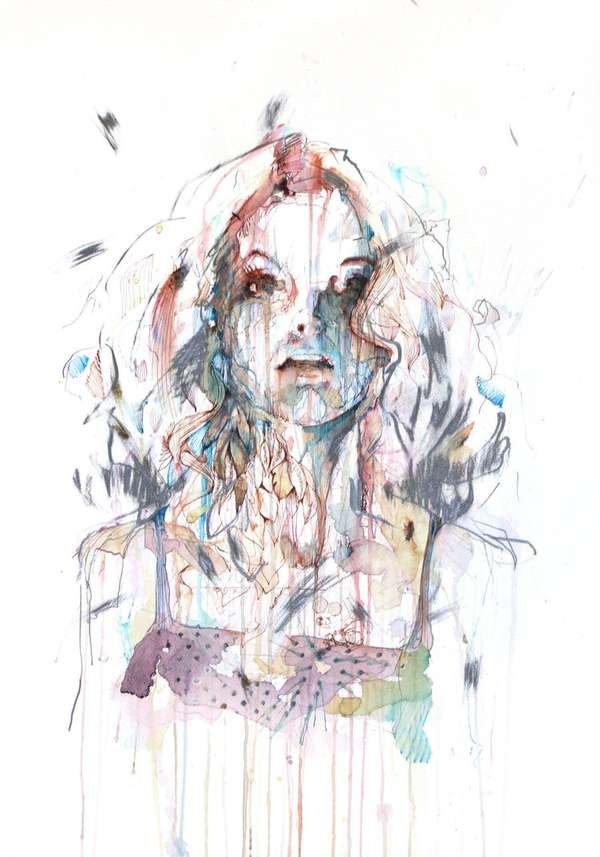 40 Ink Painting Ideas For Inspiration: 17 Best Images About Fragments Of Faces...Carne Griffiths