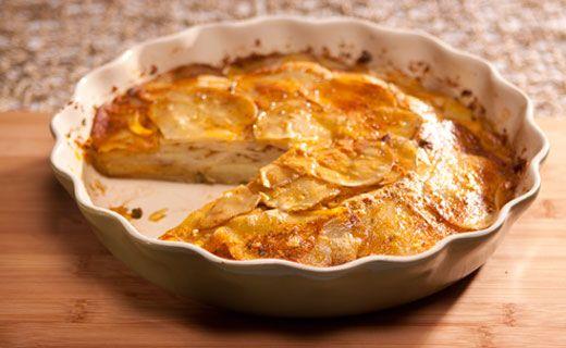 "Dinner - ""3 onion mix"" Skinny scalloped potatoes"