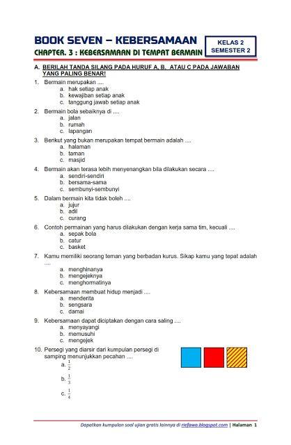 Download Soal Tematik Kelas 2 Semester 2 Tema 7 Subtema 3 Kebersamaan Kebersamaan Di Tempat Bermain Edisi Terbaru Belajarpoin Com Huruf Kurikulum Buku