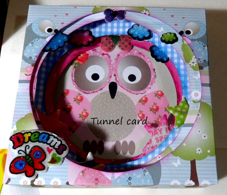 Tunnel card/ Tutorial/ Scrapbooking