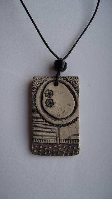 clay necklace