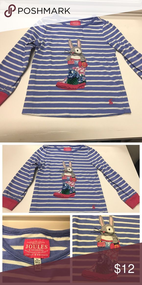Girls Size 4T Joules long sleeve bunny shirt Girls Joules long sleeve bunny shirt Size 4. Pet-free and Smoke-free home. Joules Shirts & Tops Tees - Long Sleeve