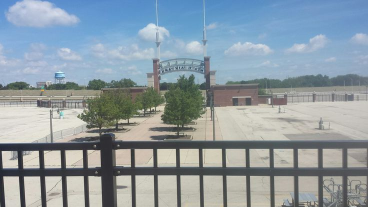 Henry Aaron Trail looking out at the Wisconsin State Fair Grounds