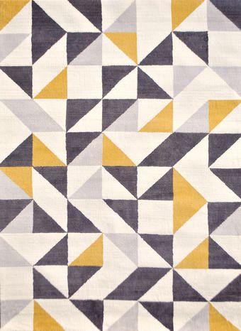 ラグマット(幾何学柄・アイボリー系マルチカラー M) 北欧 ミッドセンチュリー ベージュ・アイボリー系 Home S