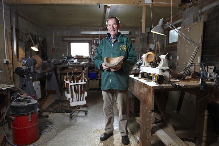 John Sherwood, woodturner, Surrey Open Studios member