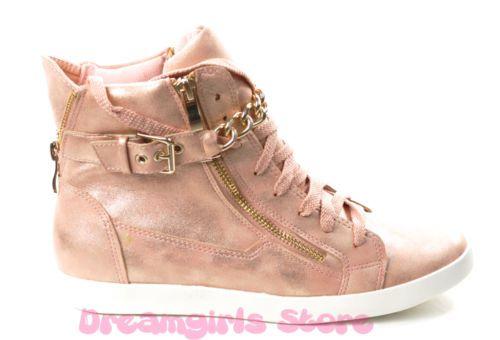SCARPE DONNA Sportive Sneakers Ecopelle Catena Zip Cerniere Fibbia Stringe 305   eBay