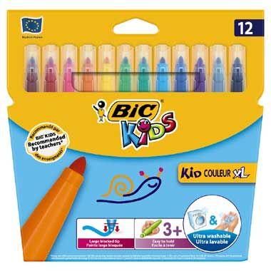 BIC Kids 12 dikke uitwasbare stiften  Teken een gele hond een groene kat of teken je broertje of zusje met een grote snor! Laat je van je creatiefste kant zien en maak de mooiste tekeningen met deze prachtig gekleurde stiften van BIC!  EUR 7.99  Meer informatie