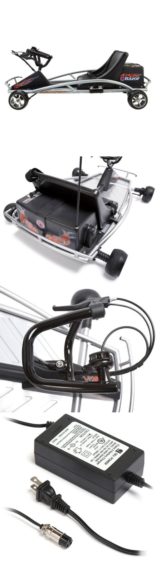 Complete Go-Karts and Frames 64656: Razor Ground Force Electric-Powered Go-Kart -> BUY IT NOW ONLY: $250 on eBay!