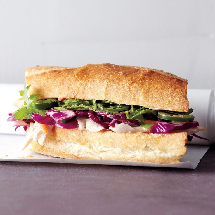 Turn the makings of an Asian Chicken Salad into this flavorful Vietnamese-style sandwich.