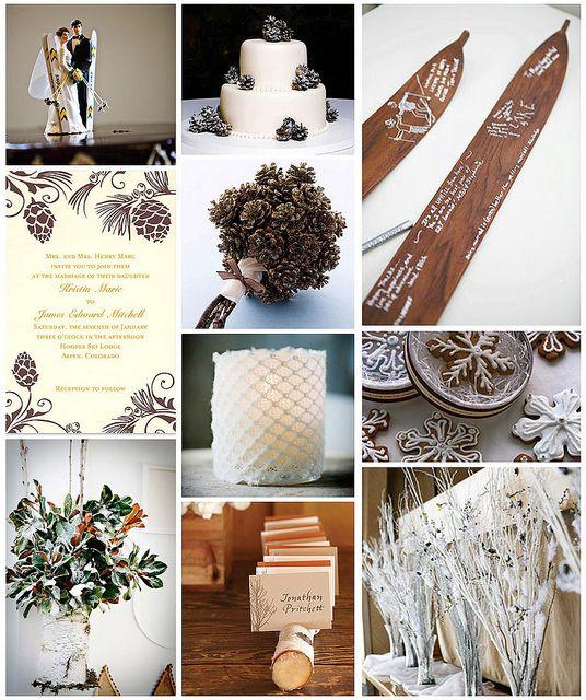 Ski Lodge Winter Wedding by finestationery, via Flickr --- ideas?