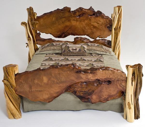 Rustic Bedroom Furniture | Rustic Bedroom Furniture, Log Bed, Mission Beds, Burl Wood Furnishings ...