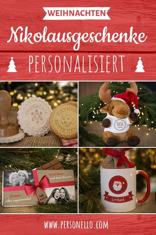 Personalisierte Nikolausgeschenke für die beste Freundin oder die ...