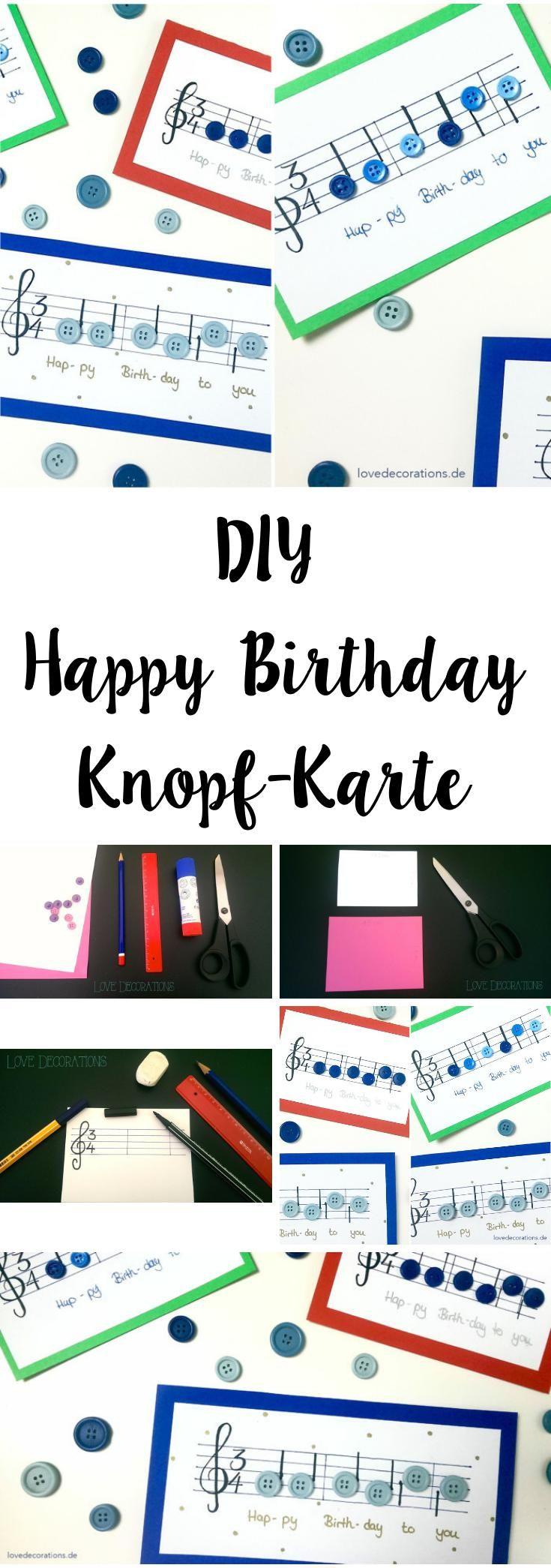 DIY Happy Birthday Button Card   DIY Happy Birthday Knopf-Karte