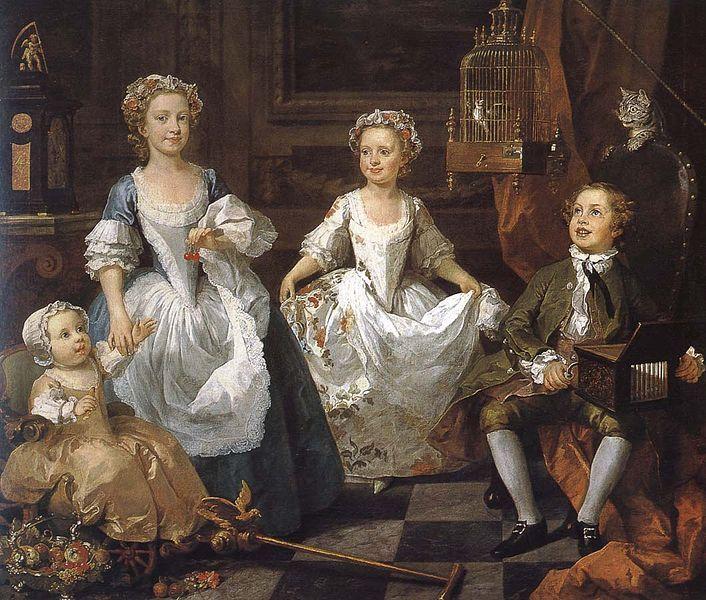 Autore: William Hogarth Nome dell'opera: Bambini Graham Data: 1742 Tecnica: olio su tela Collocazione originale: presso la famiglia Graham Collocazione attuale: National Gallery, Londra (dal 1934)