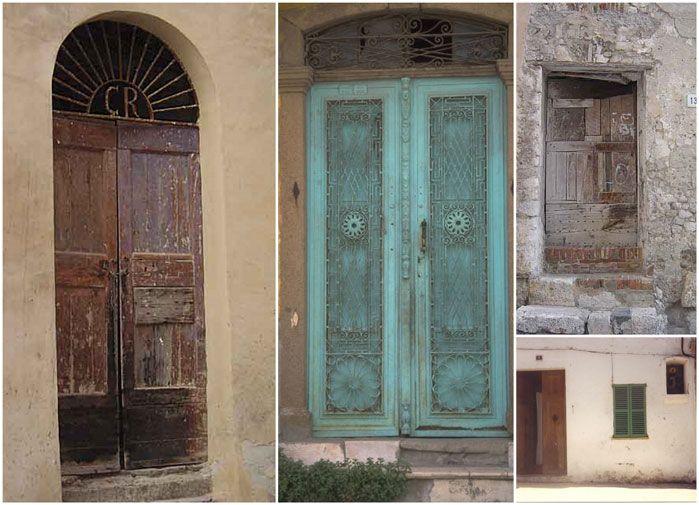 Vackra medelhavshus o dörrar