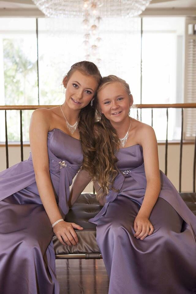 My two beautiful step-daughters who were my bridesmaids
