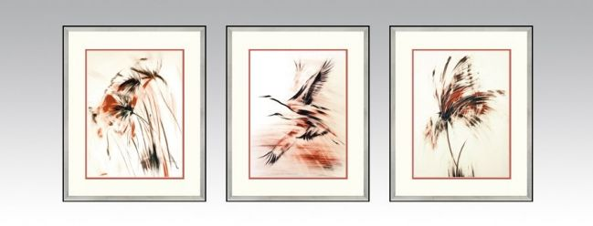 Windy Series in a silver frame and light double passe-partout (Option 2).