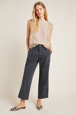 Slouched Trousers by Anthropologie in Yellow Size: 32, Women's Pants 13