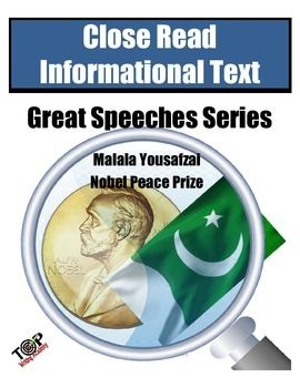 a rhetorical analysis of the nobel peace prize speech of malala yousafzai on womens education A study of personal pronouns, modality and rhetorical devices in a selection of  malala yousafzai's speeches  women (perloff 2003:4), and yousafzai is a  living example of how persuasion is used to change the current  she had  received the nobel peace prize for her work as an educational activist, and  standing.