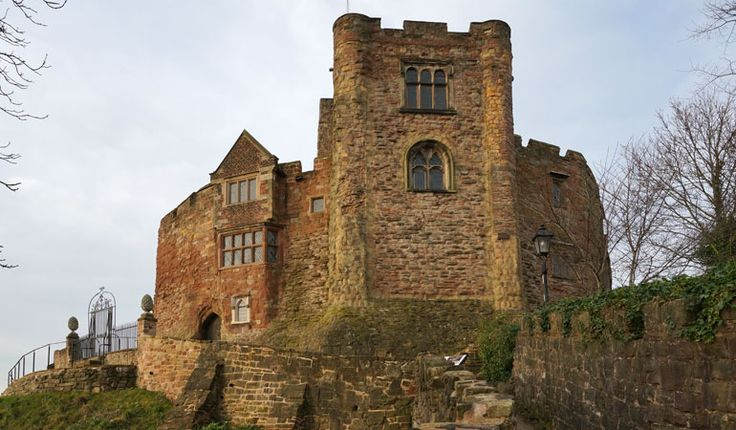 Tamworth Castle, next to the River Tame, Tamworth, Staffordshire, U.K.