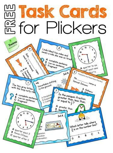 Free task cards for creating Plickers questions (includes step-by-step tutorial)