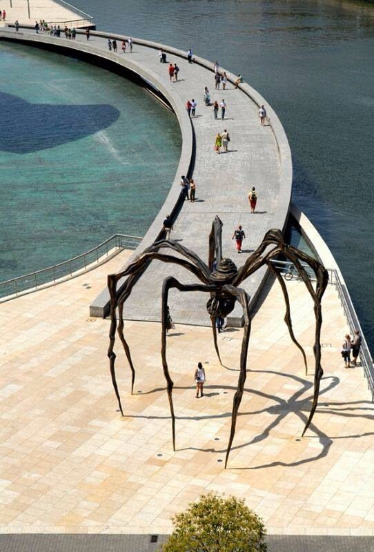 Louise Bourgeois Spider - Guggenheim Museum's Bridge - Bilbao. Basque Country, Spain.
