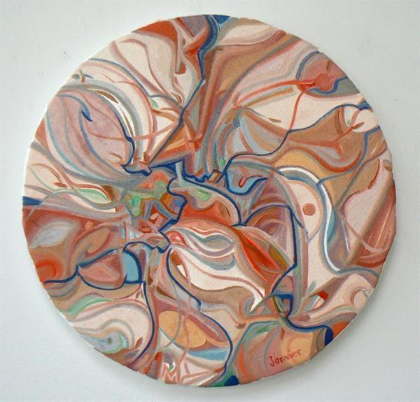 Time Change. Artist: Alex Janvier. Medium: Oil on Canvas