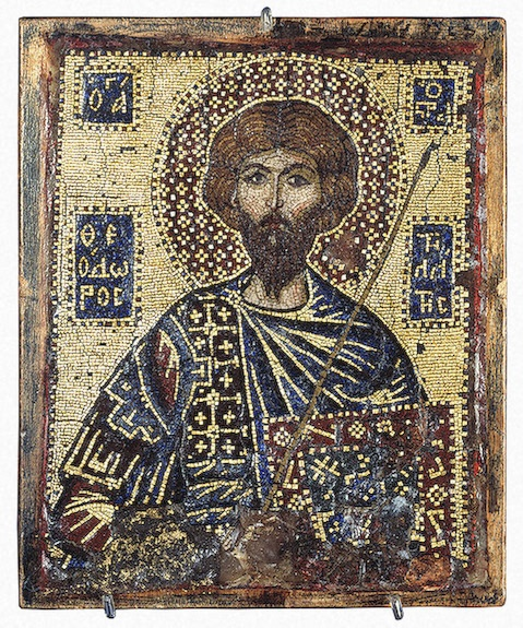 Portable Icon: St Theodore Stratilates ,   First quarter of the 14th century