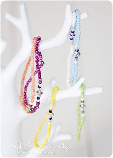 Elastiska pärlarmband – Elastic Bead Bracelets | Craft & Creativity