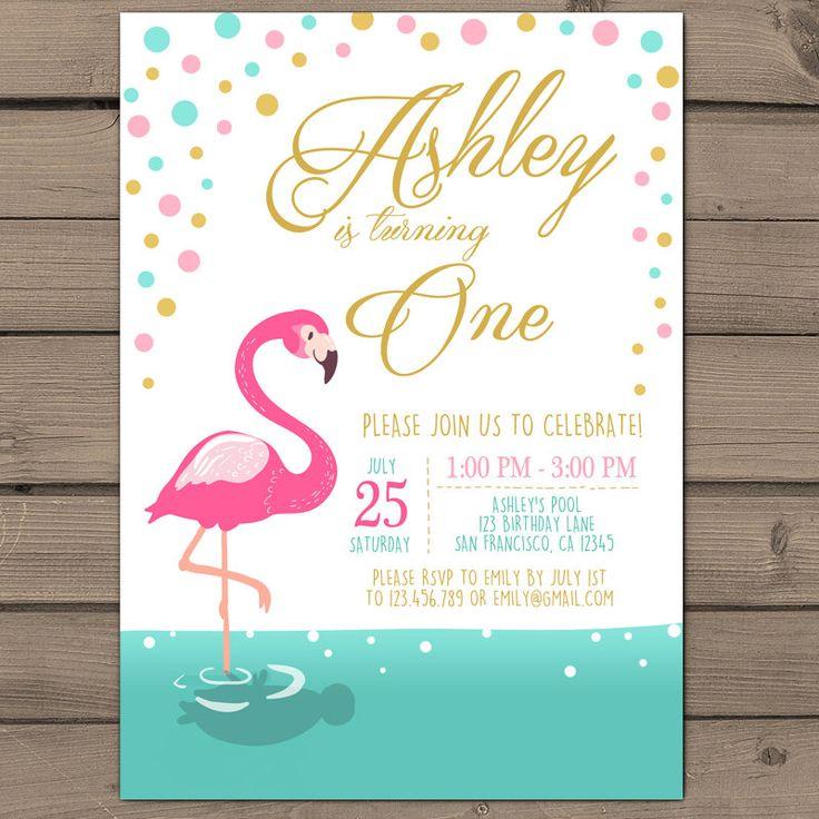 22 best Flamingo Birthday Invitations images on Pinterest | Flamingo ...