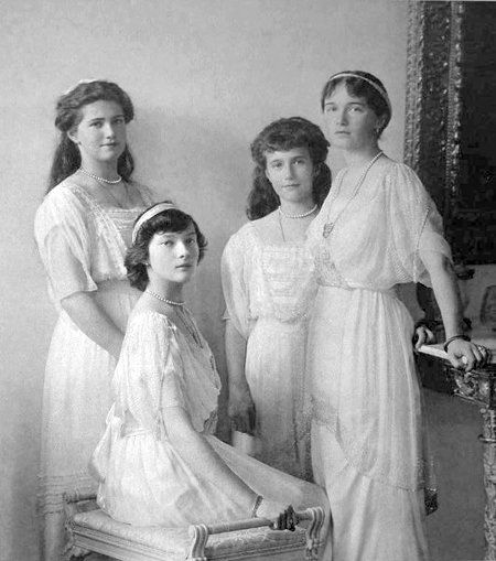 The Romanov girls : Maria, Tatiana, Anastasia and Olga. These beautiful sisters lived in a beautiful era for style, which made them ever more so heavenly in appearance, rightly so!