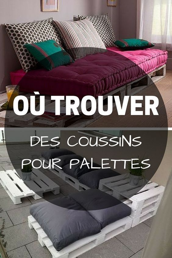 les 25 meilleures id es de la cat gorie coussin pour palette sur pinterest futon palette. Black Bedroom Furniture Sets. Home Design Ideas