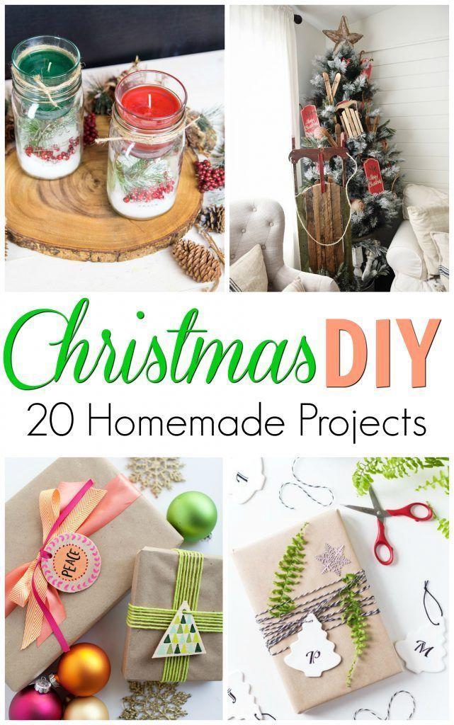 20 Diy Christmas Homemade Projects Holiday Craft Ideas Diy