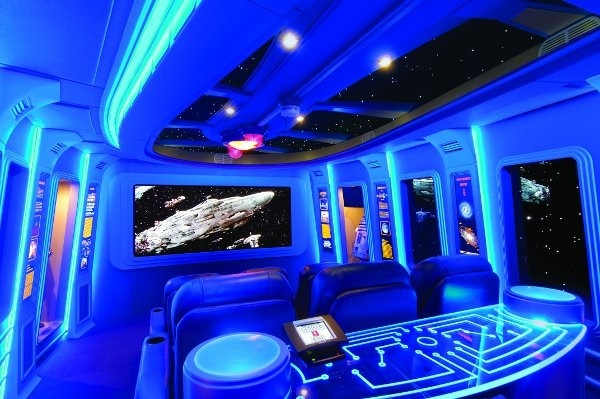 Star Wars inspired home movie theater