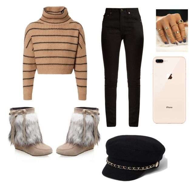 """Cute outfit 🥀"" by saez-javita on Polyvore featuring moda, Brunello Cucinelli, Yves Saint Laurent y River Island"