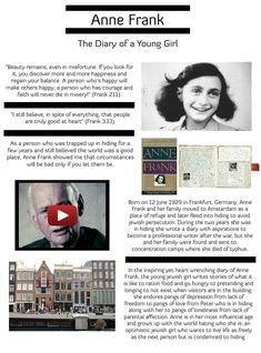 Annelies Marie Frank was a German-born diarist and writer. She is one of the most discussed Jewish victims of the Holocaust. #glogster #glogpedia #annefrank