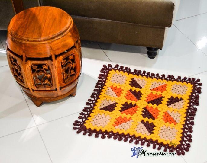 Tappeto nonna piazze a maglia.  Scheme (2) (685x540, 369KB)