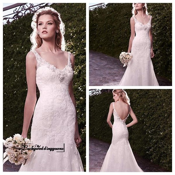 Amazing Tulle & Satin Mermaid V-neck Neckline Wedding Dress With Appliques and Beadings http://www.ckdress.com/amazing-tulle-satin-mermaid-vneck-neckline-wedding-dress-with-appliques-and-beadings-p-1588.html  #wedding #dresses #party #Luckyweddinggown #Luckywedding #design #style #weddingdresses #bridaldresses #love #me #cute #beautiful #girl #shopping #lovely #clothes #instagood #follow #fashion