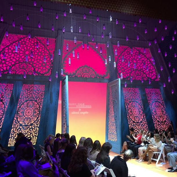 The beautiful Aladdin, the Musical set at the New Amsterdam Theatre converted in a runway