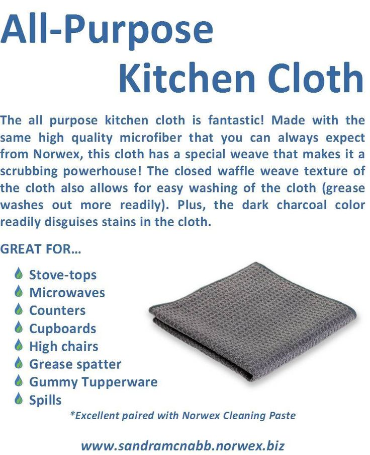 How To Use Norwex Kitchen Cloth