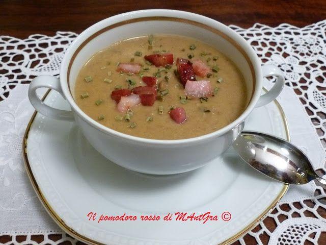 Il Pomodoro Rosso di MAntGra: Crema di funghi e pancetta