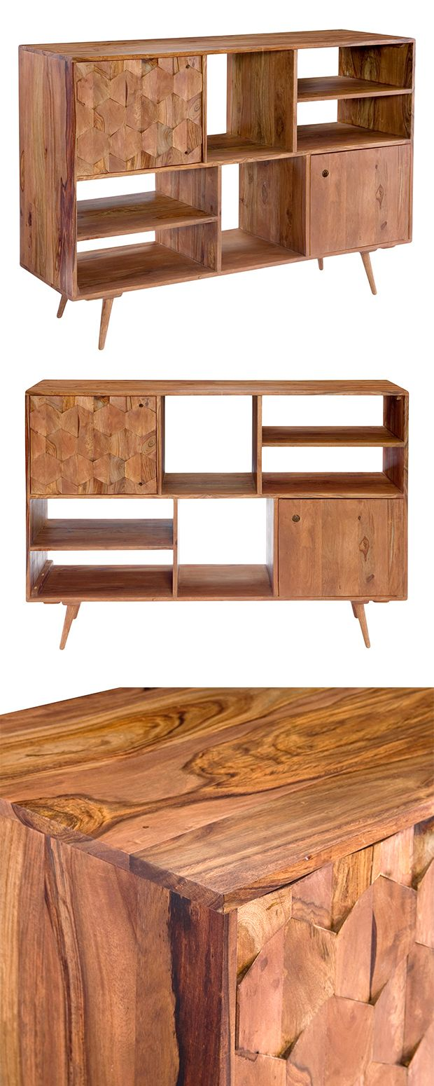 Store your favorite reading material in a mid-century modern design. Part of our Cameron Park collection, this bookshelf is made in India and features solid sheesham wood amongst a blend of materials. ...  Find the Cameron Park Bookshelf, as seen in the Mid-Century Classics Collection at http://dotandbo.com/collections/mid-century-classics-2?utm_source=pinterest&utm_medium=organic&db_sku=119319