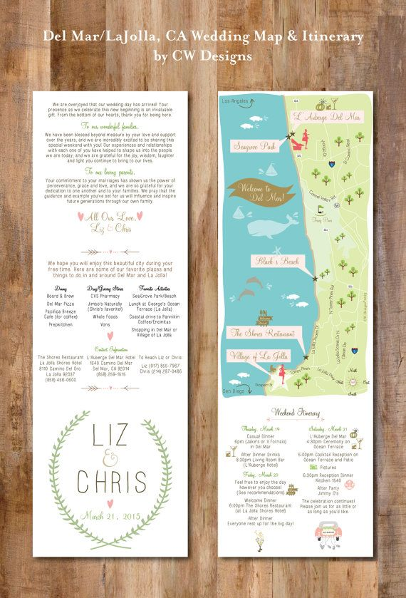beach wedding map infographic with itinerary wedding invitation insert infographic map choose your citylocation - Wedding Invitation Inserts