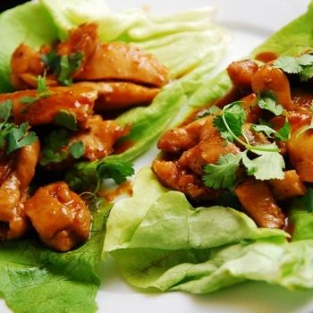 This flavorful and low calorie Thai recipe is a great, low carb way to eat finger food. Juicy and perfectly seasoned chicken breasts are wrapped in fresh lettuce and make an excellent Weight Watchers lunch idea