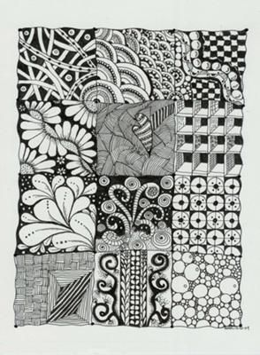 Zendoodle / Zentangle Pattern Sampler by Ruth: Zendoodle Zentangle Pattern Fill Sampler ~~~~~~~~~~~~~~~~~~~~~~~~~~~~~~~~~~~~~~~~  ~ Here is a Zentangle Style PAttern Sampler filled with a variety of