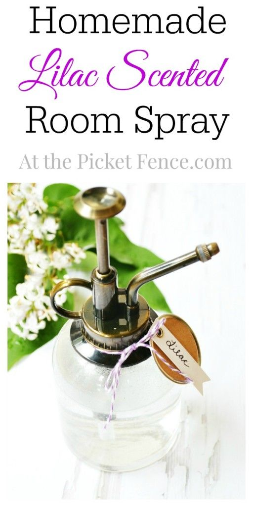 Homemade Lilac Scented Room Spray from At the Picket Fence