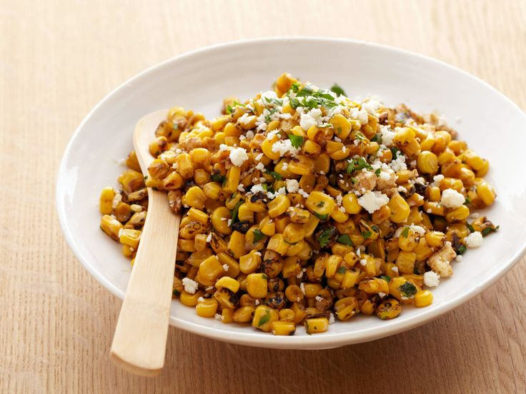 Bobby Flay's Grilled Corn Salad with Lime, Red Chili and Cotija - http://www.foodnetwork.com/recipes/bobby-flay/grilled-corn-salad-with-lime-red-chili-and-cotija-recipe.html