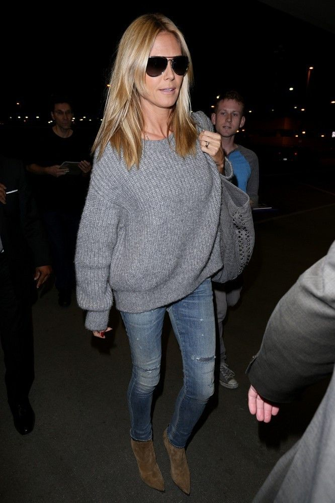 Heidi Klum Arrives at LAX